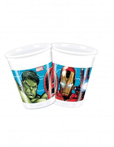 8 Trinkbecher aus Kunststoff 200ml Avengers Mighty™
