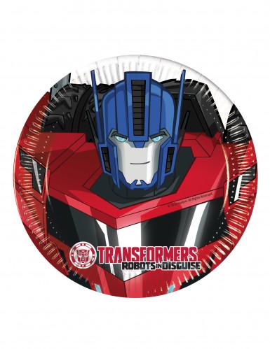 8 Kleine Pappteller 20 cm Transformers RID™