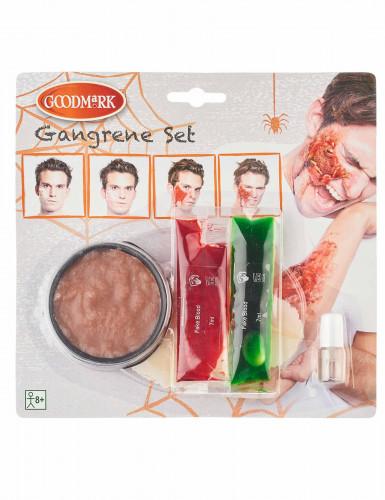 Set Gangrän Make-up Erwachsene Halloween