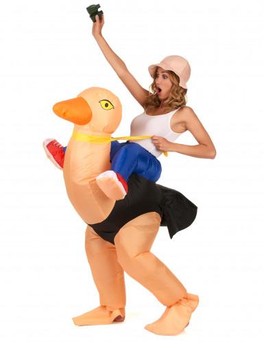 Aufblasbares Strauß Kostüm für Erwachsene