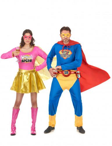 Paar Kostüm Super Buveur und Miss Apéro!