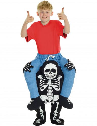 Kind auf Skelettrücken- Kostüm für Kinder