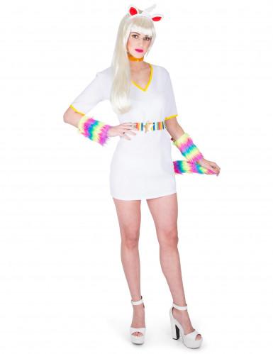 Weisses Einhorn-Kostüm für Damen