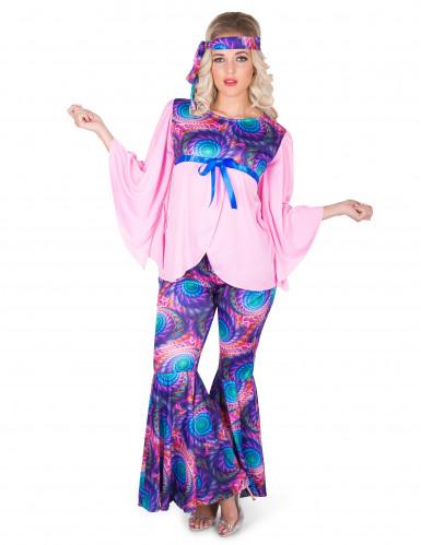 Hippie-Kostüm für Damen bunt