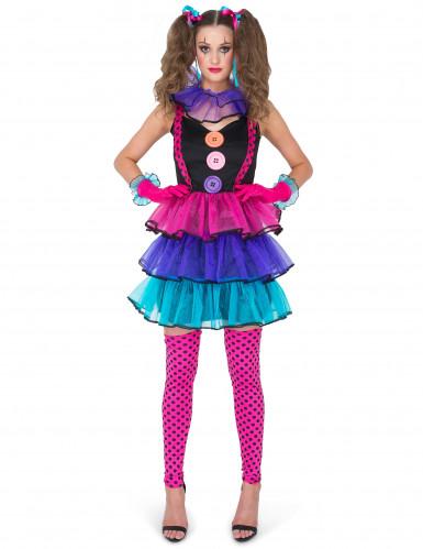 Clown - Kostüm für Damen-1