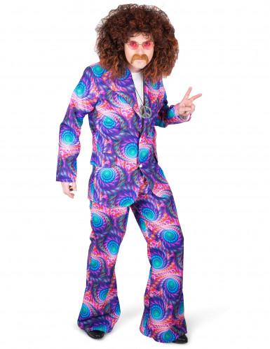 Disco Kostüm psychedelisch für Herren