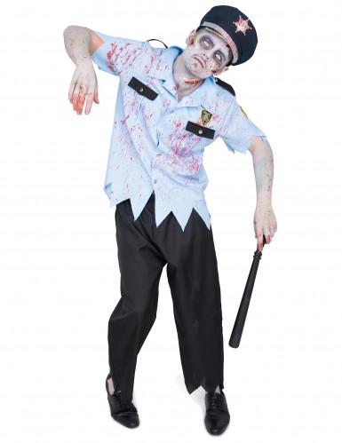 Polizisten Zombie Kostüm für Herren