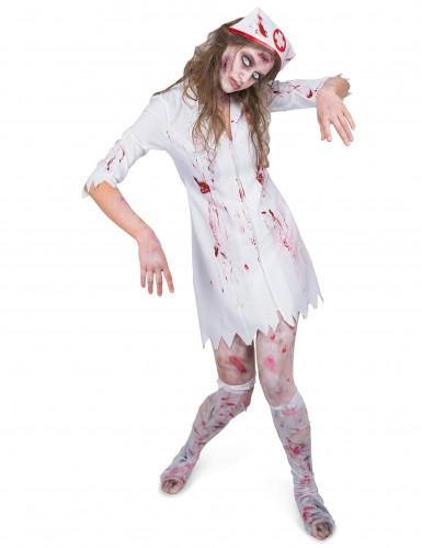Krankenschwester Kostüm Zombie für Damen