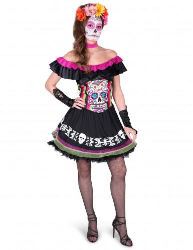 Kostüm Mariachi Dia de los Muertos für Damen