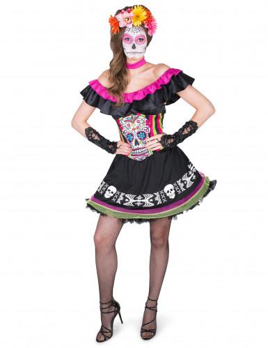 Kostüm Mariachi Dia de los Muertos für Damen-1