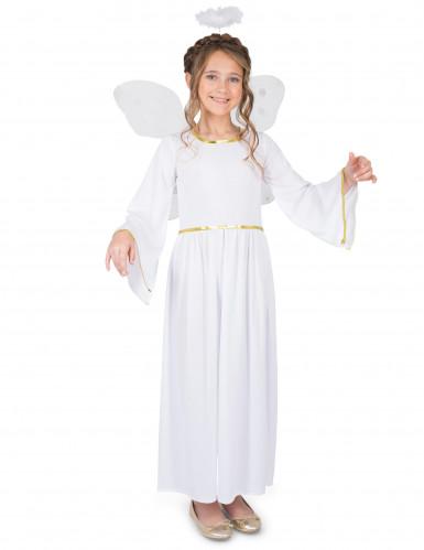 Himmlisches Engelskostüm für Mädchen weiss-gold
