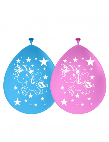 6 Ballons mit Einhorn