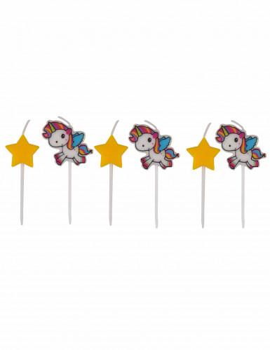 6 Licorne Kerzen