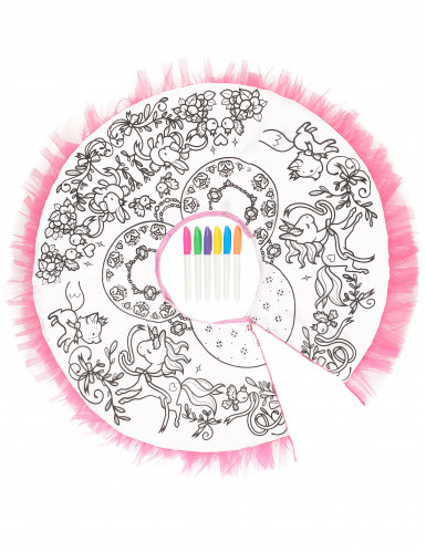 Mädchen-Tutu mit wasserlöslichen Stiften zum bemalen