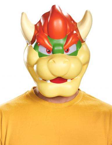 Nintendo™ Bowser Maske Lizenzartikel beige-rot-grün