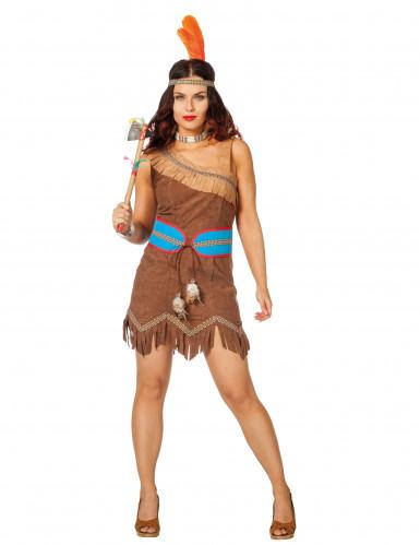Indianerin Prinzessin Kostüm für Damen braun