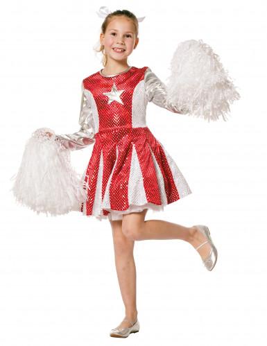 Cheerleader-Kleid für Mädchen rot-silber