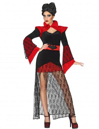 Vampirkostüm aus Spitze für Damen
