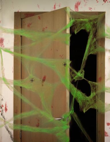 Deko grünes Spinnennetz 20g für Halloween