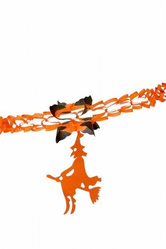 Hexengirlande orange schwarz 240cm-1