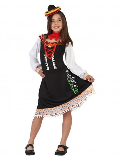 Mexikanerin Kostüm für Mädchen