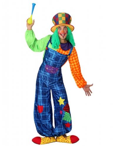 Clown - Kostüm patchwork blau für Damen