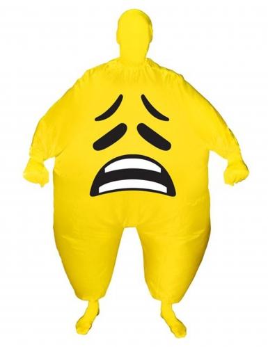 Aufblasbares weinendes Smiley Morphsuits™ Kostüm für Erwachsene
