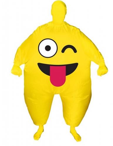 Aufblasbares Morphsuits™ Kostüm für Erwachsene mit zwickendem Gesicht