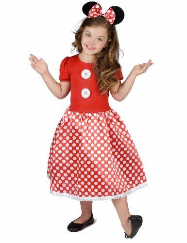 Mauskostüm in Rot-Schwarz-Weiß für Mädchen