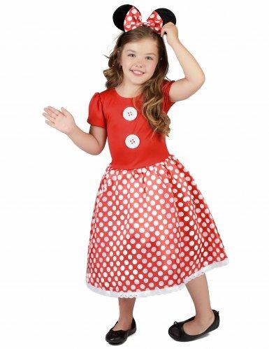 Mauskostüm in Rot-Schwarz-Weiß für Mädchen-1