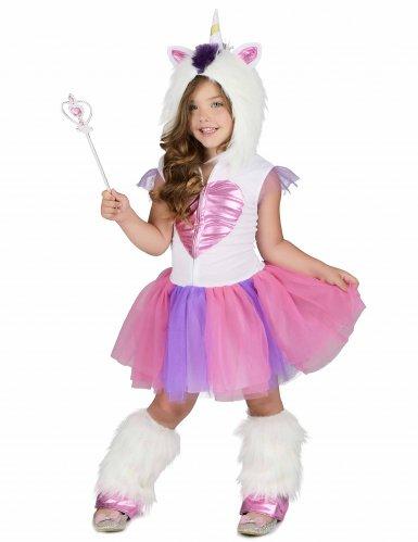 Einhorn-Kostüm für Mädchen Regenbogen bunt