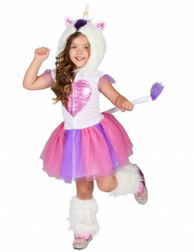 Einhorn-Kostüm für Mädchen Regenbogen bunt-1