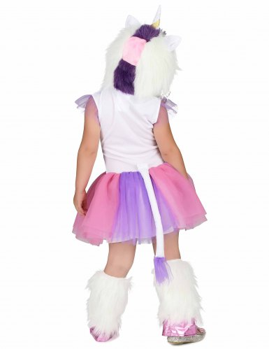 Einhorn-Kostüm für Mädchen Regenbogen bunt-2
