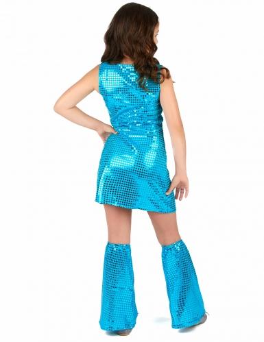 Disco Kinder-Kostüm mit Pailletten türkis-2