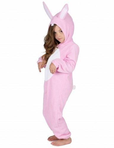 Rosa Hasen Kostüm Einteiler für Kinder-1