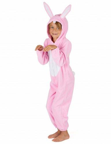Rosa Hasen Kostüm Einteiler für Kinder-3