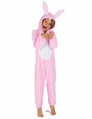 Rosa Hasen Kostüm Einteiler für Kinder-5