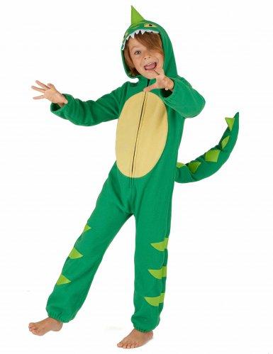 Grün-gelbes Dinosaurierkostüm für Kinder-1