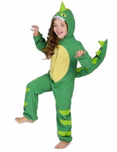 Grün-gelbes Dinosaurierkostüm für Kinder-3