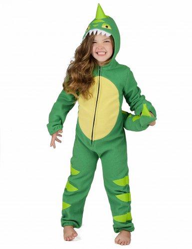 Grün-gelbes Dinosaurierkostüm für Kinder-5