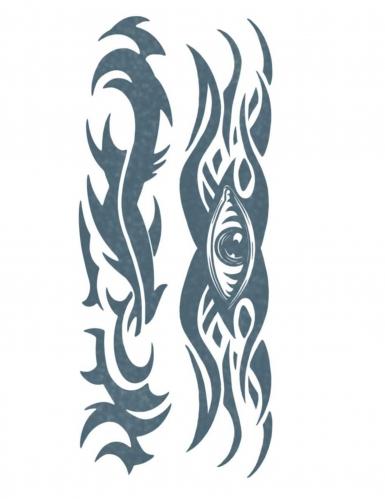 Tribal-Augen-Körpertattoo