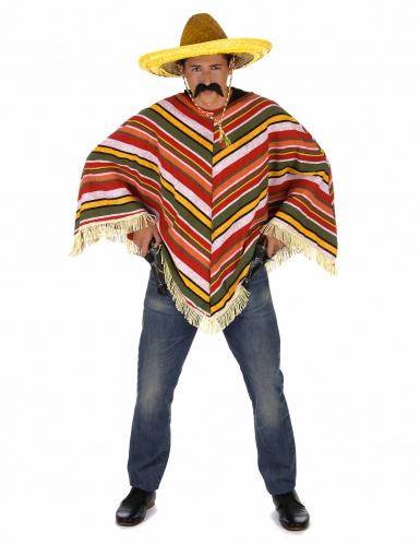 Mexikanischer Poncho für Erwachsene bunt