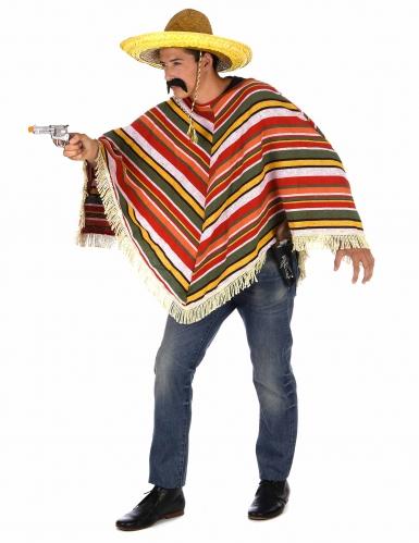 Mexikanischer Poncho für Erwachsene bunt-1