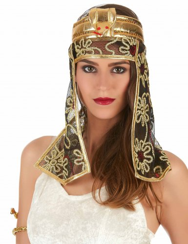 Ägyptischer Kopfschmuck gold-schwarz-1