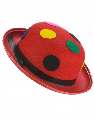 Hut Melone roten Tupfen Clown Erwachsene