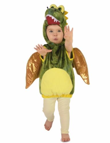 Grünes Dinosaurier-Kostüm für Kinder-4
