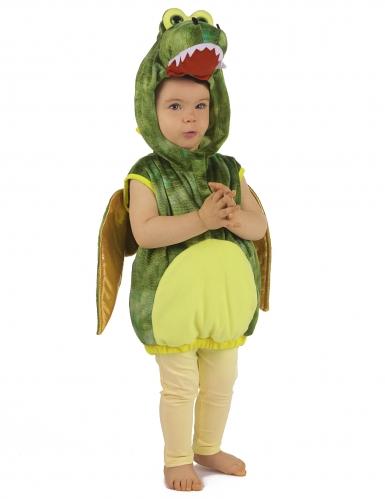 Grünes Dinosaurier-Kostüm für Kinder-3