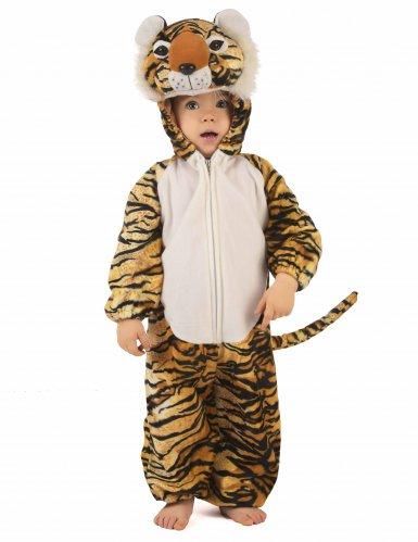 Tiger Kostüm für Kinder schwarz-beige-orangefarben