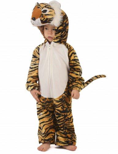 Tiger Kostüm für Kinder schwarz-beige-orangefarben-1