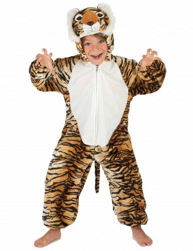 Tiger Kostüm für Kinder schwarz-beige-orangefarben-4